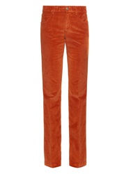 Gucci Velvet Corduroy Flared Trousers