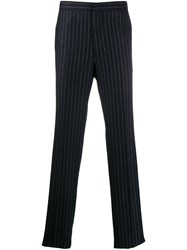 Golden Goose Pinstripe Tailored Trousers Blue