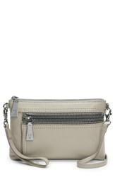 Frye Lena Leather Crossbody Bag Grey