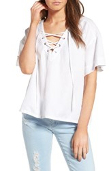 Ag Jeans Women's Kelly Lace Up Cotton Top