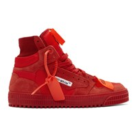 Off White Red Court Sneakers