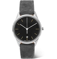 Uniform Wares C36 Stainless Steel And Suede Watch Gray
