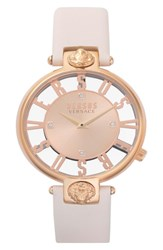 Versus By Versace Kristenhof Leather Strap Watch 34Mm Blush Rose Gold