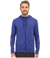 Nike Dri Fit Fleece Full Zip Training Hoodie Deep Royal Blue Black Men's Sweatshirt