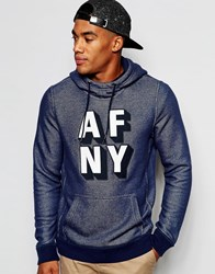 Abercrombie And Fitch Overhead Hoodie With 'Afny' In Muscle Slim Fit Cc200 Navy