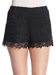 Romeo And Juliet Couture Floral Lace Shorts Black
