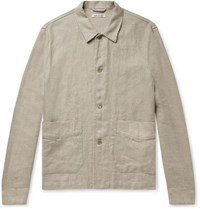 Our Legacy Slub Herringbone Linen Jacket Ecru