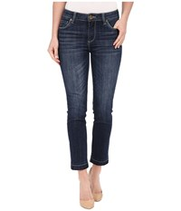Kut From The Kloth Reese Ankle Straight Leg Jeans In Rely W Dark Stone Base Wash Rely Dark Stone Base Wash Women's Jeans Blue