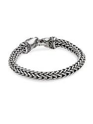 Lois Hill Sterling Silver India Flat Weave Bracelet