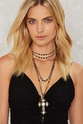 Layer On Me Cross Necklace Black