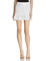 Bb Dakota Vera Lace Mini Skirt Optic White