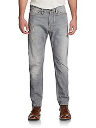 Scotch And Soda Stump Distressed Tapered Jeans Grey