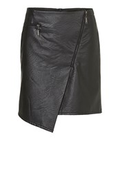 Betty Barclay Pleather Skirt With Asymmetric Hem Black