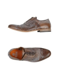 Enrico Fantini Lace Up Shoes Khaki