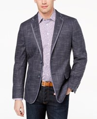 Tallia Orange Men's Modern Fit Stretch Navy Tic Sport Coat