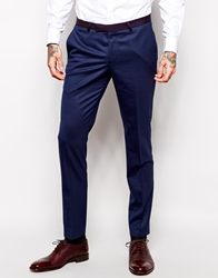 Noose And Monkey Suit Trousers In Skinny Fit Burgundynavy