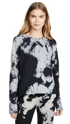 Sol Angeles Marble Cropped Pullover Black