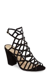 Vince Camuto Women's Naveen Cage Sandal Black Nubuck Leather