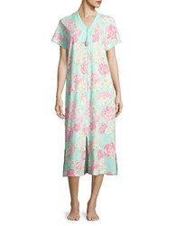 Miss Elaine Floral Print Night Gown Pink Floral