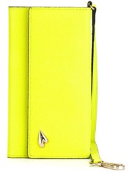 Diane Von Furstenberg Foldover Iphone 6 Wristlet Case Yellow And Orange