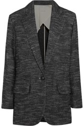 Etoile Isabel Marant Ivor Wool And Cotton Blend Coat Anthracite