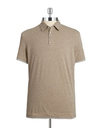 7 Diamonds Ultimate Contrast Trimmed Polo Shirt Taupe