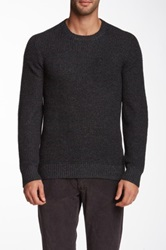 1901 Waffle Knit Pullover Gray