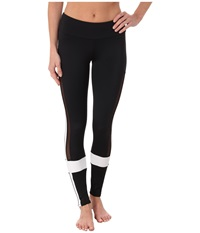 Onzie Power Leggings Black White Mesh Women's Casual Pants