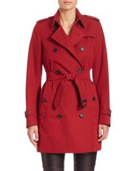 Burberry Kensington Mid Length Heritage Trenchcoat Parade Red