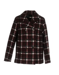 Marc By Marc Jacobs Coats Maroon
