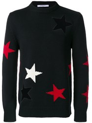Givenchy Star Cutout Sweater Wool Xl Black