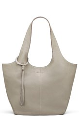 Elizabeth And James Finley Leather Shopper Grey Dove Grey