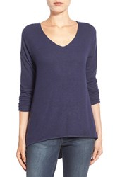 Women's Gibson 'Yummy Fleece' High Low V Neck Pullover