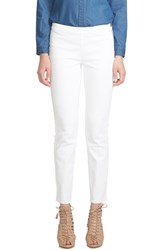 Women's Cece By Cynthia Steffe Side Zip Stretch Skinny Jeans Ultra White
