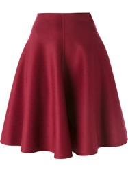 Ermanno Scervino Circle Skirt Red