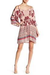 Angie Cold Shoulder Butterfly Sleeve Dress Brown