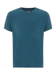 Linea Austin Cotton Crew Neck T Shirt Teal