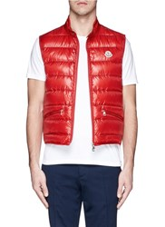 Moncler 'Gui' Down Vest Red
