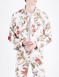 Mcq By Alexander Mcqueen Floral Print Stretch Cotton Jacket Parchment