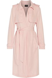 W118 By Walter Baker Marley Twill Trench Coat Pastel Pink