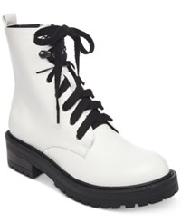 Madden Girl Alicee Combat Booties White