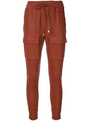 Manning Cartell Skinny Drawstring Trousers Brown