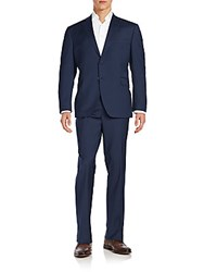 Saks Fifth Avenue Slim Fit Wool Suit Navy