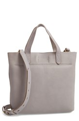 Madewell Small Transport Leather Crossbody Grey Stonewall