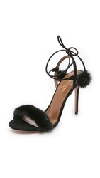 Aquazzura Fancy Nancy Sandals Black