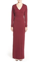 Women's Rd Style Long Sleeve V Neck Maxi Dress