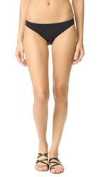 Tory Burch Solid Low Rise Bikini Bottoms Black