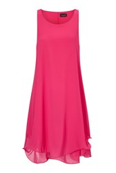 James Lakeland Sleeveless Wave Hem Dress Fuchsia