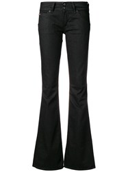 Hudson Low Rise Flared Jeans Black