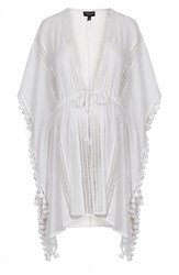 Women's Topshop Lace Tie Maternity Cover Up Caftan White